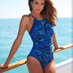 b901eb7de0112 Magicsuit Swim | Nwt Size 8 Red Burgundy One Piece | Poshmark